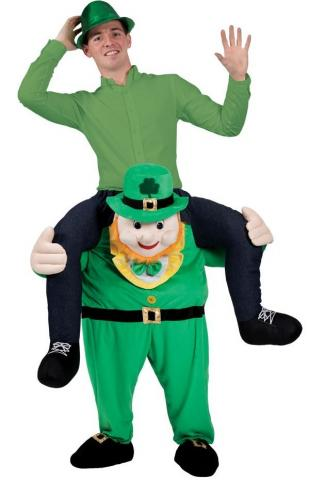 """Carry Me"" Leprechaun Mascot"
