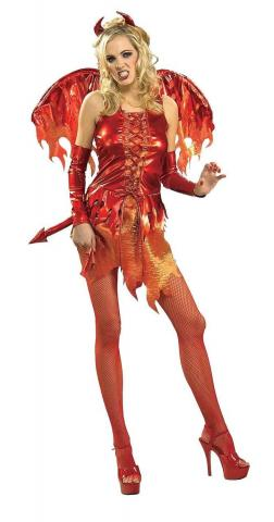 Devil on Fire Costume