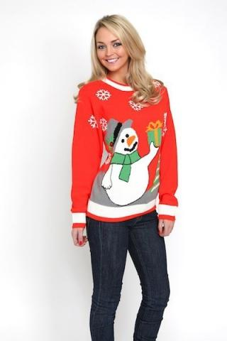 Ladies Snowman Jumper