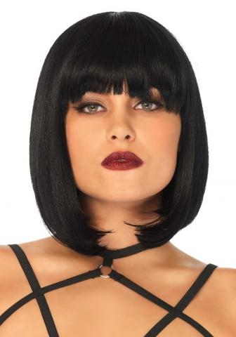 Short Natural Bob Wig - Black