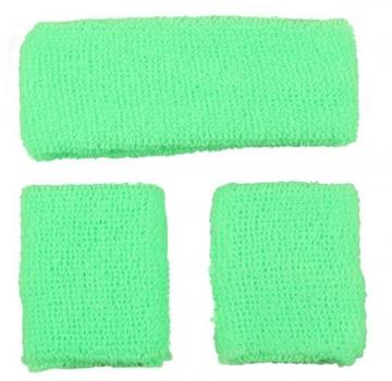 80's Sweatbands & Wristbands - Green