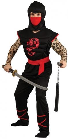 muscle chest ninja warrior costume - kids