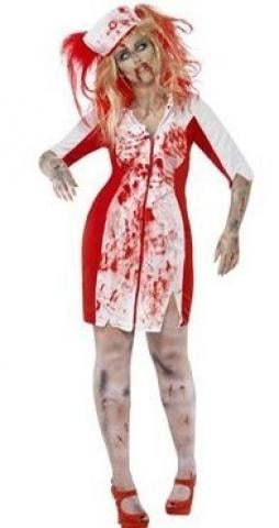curves zombie nurse costume