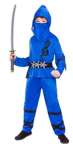 Blue Power Ninja tween Costume