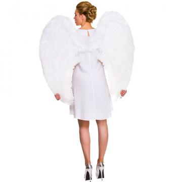 Giant White Feather Angel Wings