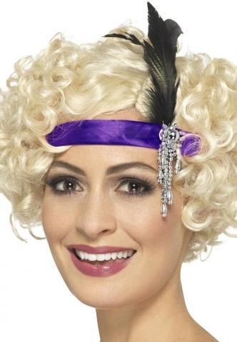 Purple Satin Charleston Headband
