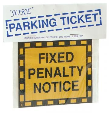 Joke Parking Ticket