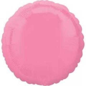 Round Bubble Gum Pink Foil Balloon - 17""