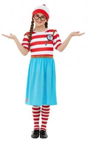 Where's Wally?Deluxe Wenda Costume - Kid's