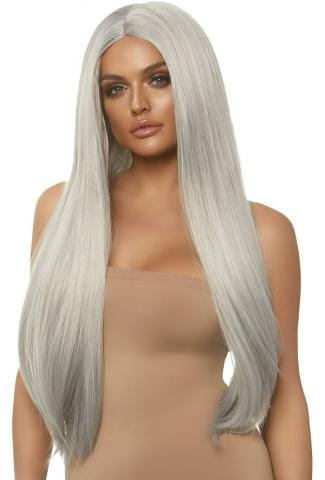 Long Straight Grey Wig