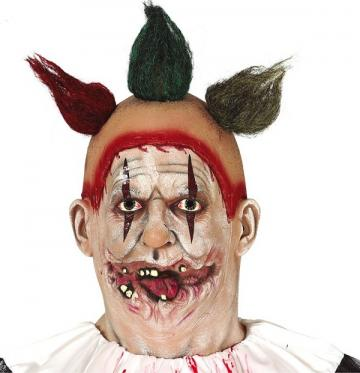 Latex Clown Mask With Hair