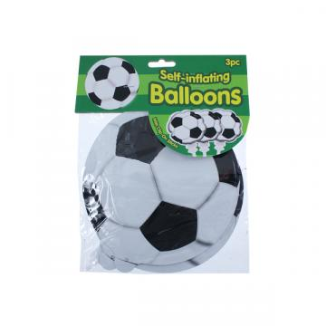 Football Self Inflating Balloon - 3 Pack