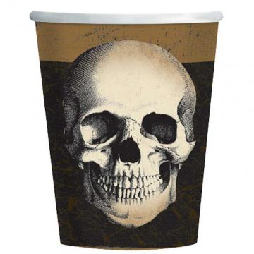 Skull Paper Cups - 8 Pack
