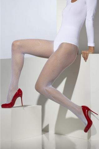 Fishnet tights - white