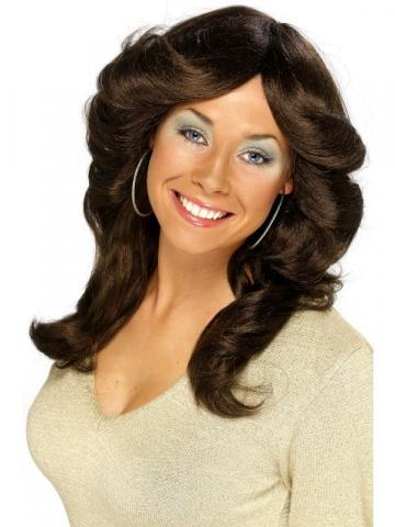 70's flick wig - brown