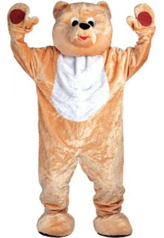 Deluxe Teddy Bear Mascot Costume