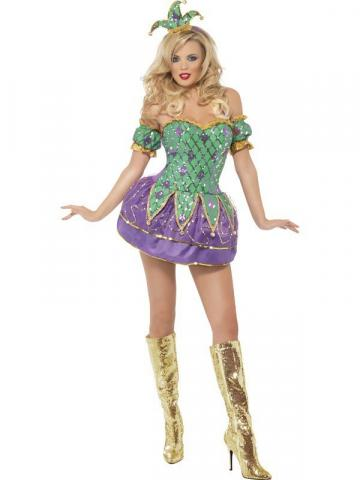 Fever Harlequin Costume - Ladies