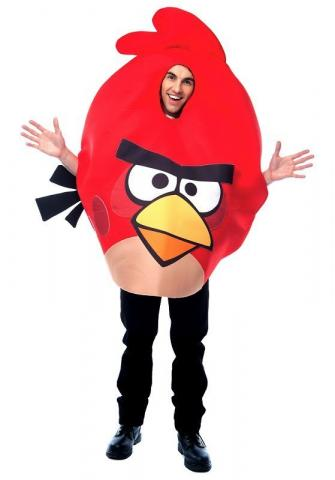 Red Angry Birds -Adult costume