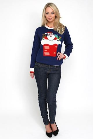 Ladies Santa Jumper