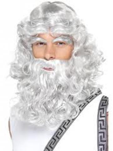 Zeus Wig, Beard and Eyebrow Set