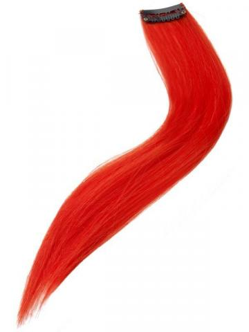 neon Red Hair Extension