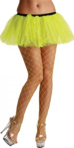 Neon Yellow Diamond Tights