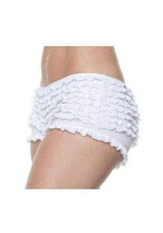 Luxury Ruffle Shorts - White