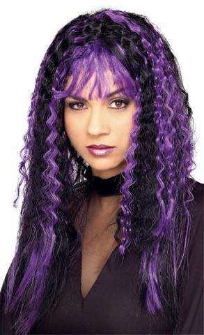 Sinister Crimped Witch Wig