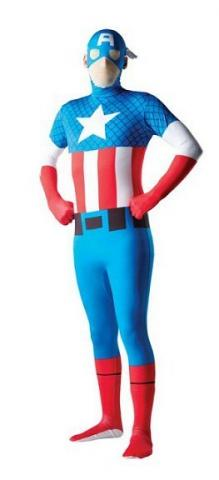 Captain America Body Suit Costume