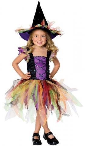 Glitter Witch Little Girl's Fancy Dress
