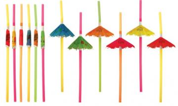 Umbrella Straws - 12 Pack