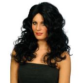 long curly black wigs