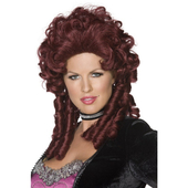 Baroque wig - burgundy