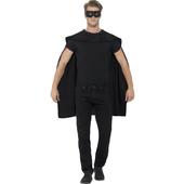 black cape & eyemask