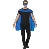 blue cape & eyemask