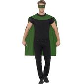 green cape & eyemask
