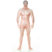 Naked censored man morphsuit