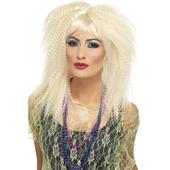 80s blonde crimp wig