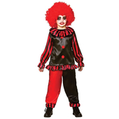 evil clown teen costume