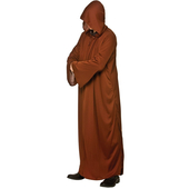 brown hooded robe