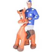 Inflatable jockey costume