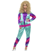 80's Height of Fashion Shell Suit Costume - Ladies