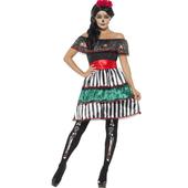Day of the Dead Senorita Doll Costume - plus size