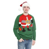 Santa Elf Christmas Jumper - Green