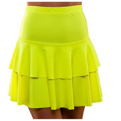 80's Neon Ra Ra Skirt - Yellow