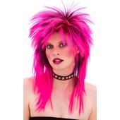 80's rocker wig - pink