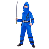 Blue Power Ninja Kids Costume