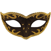 black and gold eye mask