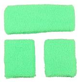 80's Sweatbands & Wristbands - Green