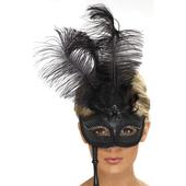 Baroque Fantasy Mask - Black
